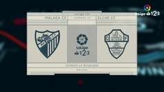 LaLiga 123 (J42): Resumen y goles del Málaga 3-0 Elche
