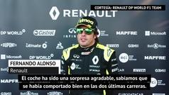 Alonso avala el Renault y cuenta cómo vivió el podio de Ricciardo