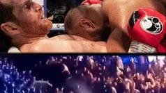 Descalifican a un boxeador por morder cuatro veces a su rival y el público le 'corre a gorrazos'
