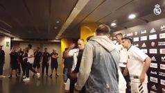 Doncic, uno más del Real Madrid antes del partido frente al Panathinaikos