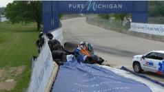 Así fue el terrible accidente de Felix Rosenqvist en Detroit
