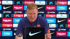"""Koeman: """"Si tengo la confianza del club, quiero seguir"""""""
