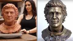 Una escultura de Ayrton Senna estará en el Museo del Vaticano