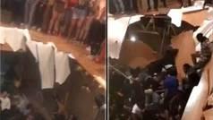 Terrorífico: Se hunde el suelo de la casa en plena fiesta tras un partido de 'football'