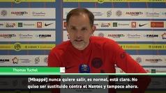 "Tuchel: ""Mbappé no está contento, pero son mis decisiones"""