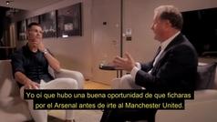 "Cristiano: ""Estuve muy cerca de irme al Arsenal"""