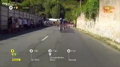 La caída de Mikel Landa en el Tour 2019