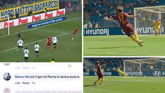 """Comenta """"ese gol lo marco hasta yo""""... ¡y la Roma le reta a repetirlo en el Olímpico!"""
