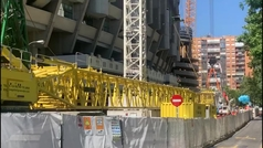 Las últimas novedades del futuro Bernabéu: se instalan las vigas que cubrirán todo el estadio