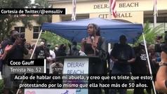 """Coco Gauff, bandera adolescente contra el racismo: """"Es triste luchar por lo mismo que mi abuela hace"""
