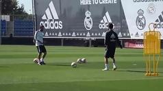 Isco entrena en solitario, Benzema con el grupo y Bale en el gimnasio