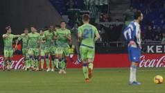 LaLiga (J16): Resumen y goles del Espanyol 1-3 Betis