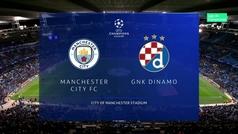 Champions League (Grupo C): Resumen y goles del Manchester City 2-0 Dinamo Zagreb