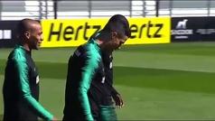 Cristiano se entrena con su selección por segundo día consecutivo