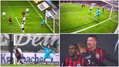 Jovic redebuta con el Eintracht, sale desde el banquillo... ¡y hace dos goles en 28 minutos!