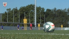 Partidos de fútbol-tenis en Lezama para pausar una semana de mucha intensidad