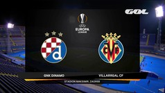 Uefa Europa League (ida cuartos de final): Resumen y goles del Dínamo de Zagreb 0-1 Villarreal