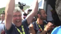 La descocada celebración del jefe de Pinot en el Tourmalet