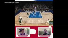 Así fue el pique entre Courtois y Hummels... ¡en la NBA virtual!