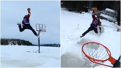 Jordan sobre hielo. El 'Jumpman' que se ha hecho viral