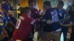 Violenta e incontrolable pelea entre aficionados y aficionadas de 49ers y Cowboys