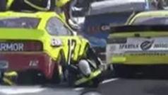 Atropello a un mecánico en la NASCAR: se queda atrapado entre dos coches