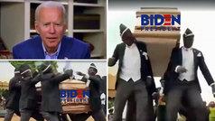 Trump 'entierra' al demócrata Joe Biden con el meme de los sepultureros desde su cuenta oficial