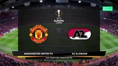 Europa League (Grupo L): Resumen y goles del Manchester United 4-0 AZ Alkmaar