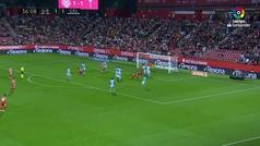 Gol de Alcalá (2-1) en el Girona 3-2 Celta