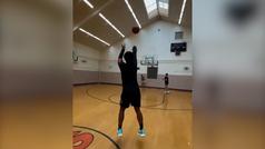 El increíble entrenamiento de Donovan Mitchell a lo Stephen Curry