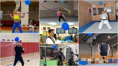 El divertido reto de varios olímpicos con un globo azul para dar visibilidad a la Diabetes