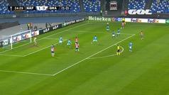 Gol de Montoro (1-1) en el Nápoles 2-1 Granada