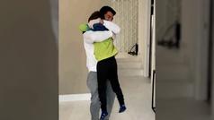El reencuentro de Luis Suárez con sus hijos: las reacciones lo dicen todo