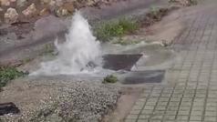 Las calles de Ontinyent convertidas en cascadas