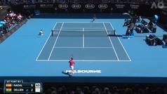 Así fue la victoria de Nadal ante Dellien en el Open de Australia 2020