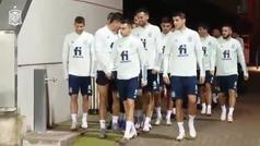 La Selección Española de fútbol acude a entrenar