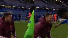 La imagen de Hazard riéndose tras la eliminación que indigna al madridismo
