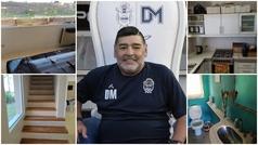 """Así era la casa donde murió Maradona: """"¿Por qué no alquilaron una mejor?"""""""