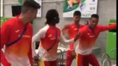 La selección española de atletismo festeja a ritmo de Rosalía la primera jornada en los Juegos Europeos