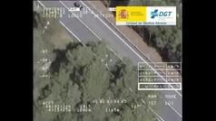 Así cazan los helicópteros de la DGT las infracciones de motoristas