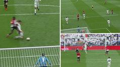 El primero de Benzema lo 'fabricó' Vallejo... ¡con una 'segada' en el área del Madrid!