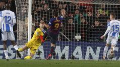 Gol de Luis Suárez (2-1) en el Barcelona 3-1 Leganés