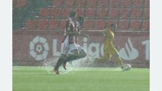 Suspendido el Nàstic 0-3 Alcorcón a los 40 minutos debido a las fuertes lluvias