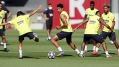 Dembélé y Araujo se ejercitan con el grupo a 48 horas del partido contra el Nápoles