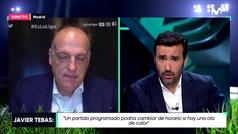 Tebas desliza que habrá medidas disciplinarias contra los jugadores del Sevilla