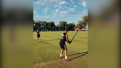 El 'home run' de Lucas Vázquez en la pretemporada del Real Madrid