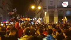 La Puerta del Sol albergó a varios aficionados de River Plate