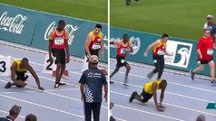 """Un sprinter paralímpico que se impulsa con los brazos emociona a Usain Bolt: """"Nada es imposible"""""""