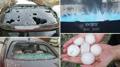 Brutal granizada en Ciudad Real: escénas de terror en las calles y numerosos daños materiales