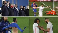 Lo que no viste del Clásico: encuentro Laporta-Florentino, los gestos al taconazo de Benzema...